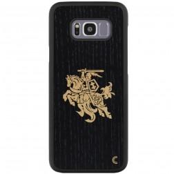 """""""Crafted Cover"""" natūralaus medžio dėklas - Juodas Vytis (Galaxy S8+)"""