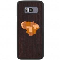 """""""Crafted Cover"""" natūralaus medžio dėklas - Lietuva (Galaxy S8+)"""