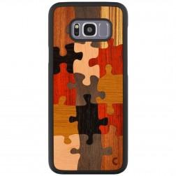 """""""Crafted Cover"""" natūralaus medžio dėklas - Puzzle (Galaxy S8+)"""