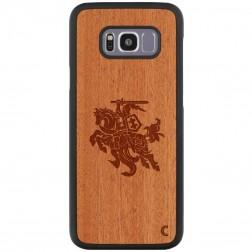 """""""Crafted Cover"""" natūralaus medžio dėklas - Vytis (Galaxy S8+)"""