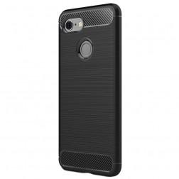 """""""Carbon"""" kieto silikono (TPU) dėklas - juodas (Pixel 3)"""
