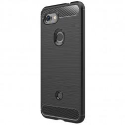 """""""Carbon"""" kieto silikono (TPU) dėklas - juodas (Pixel 3a)"""