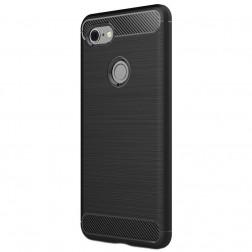"""""""Carbon"""" kieto silikono (TPU) dėklas - juodas (Pixel 3 XL)"""