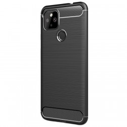 """""""Carbon"""" kieto silikono (TPU) dėklas - juodas (Pixel 4A 5G)"""
