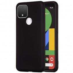 """""""Shell"""" kieto silikono (TPU) dėklas - juodas (Pixel 4A 5G)"""