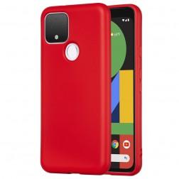 """""""Shell"""" kieto silikono (TPU) dėklas - raudonas (Pixel 4A 5G)"""
