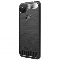 """""""Carbon"""" kieto silikono (TPU) dėklas - juodas (Pixel 4A)"""