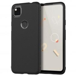 """""""Jazz"""" kieto silikono (TPU) dėklas - juodas (Pixel 4A)"""
