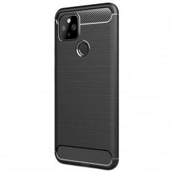 """""""Carbon"""" kieto silikono (TPU) dėklas - juodas (Pixel 5)"""