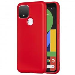 """""""Shell"""" kieto silikono (TPU) dėklas - raudonas (Pixel 5)"""