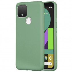 """""""Shell"""" kieto silikono (TPU) dėklas - žalias (Pixel 5)"""