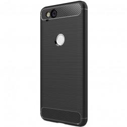 """""""Carbon"""" kieto silikono (TPU) dėklas - juodas (Pixel 2)"""