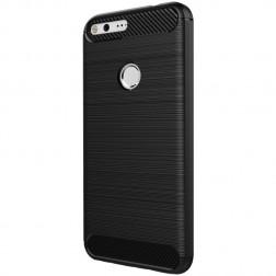 """""""Carbon"""" kieto silikono (TPU) dėklas - juodas (Pixel XL)"""