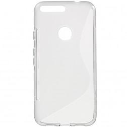 Kieto silikono skaidrus (TPU) dėklas - pilkas (Pixel XL)