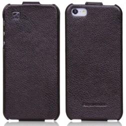"""""""HOCO"""" Duke vertikaliai atverčiamas dėklas - juodas (iPhone 5 / 5S / SE)"""