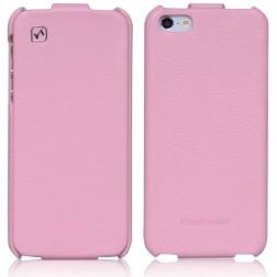 """""""HOCO"""" Duke vertikaliai atverčiamas dėklas - rožinis (iPhone 5 / 5S / SE)"""