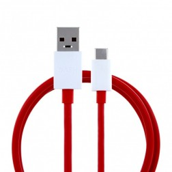 """OnePlus"" Fast Charging USB Type-C laidas - raudonas (1 m.)"