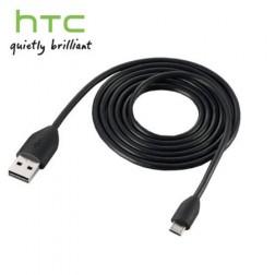 """""""HTC"""" micro USB laidas - juodas (1 m.)"""