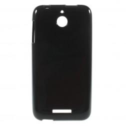 Kieto silikono (TPU) dėklas - juodas (Desire 510)