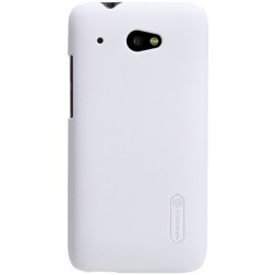 """""""Nillkin"""" Frosted Shield dėklas - baltas + apsauginė ekrano plėvelė (Desire 601)"""