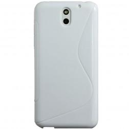 Kieto silikono dėklas - baltas (Desire 610)