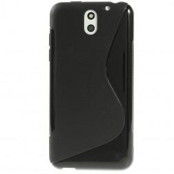 Kieto silikono (TPU) dėklas - juodas (Desire 610)