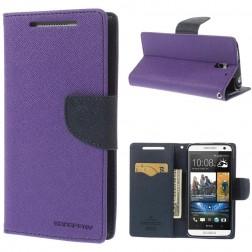 """""""Mercury"""" Fancy atverčiamas dėklas - violetinis (Desire 610)"""
