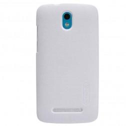 """""""Nillkin"""" Frosted Shield dėklas - baltas + apsauginė ekrano plėvelė (Desire 500)"""