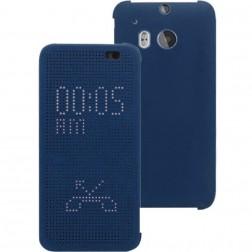 """Atverčiamas """"Dot View"""" dėklas - mėlynas (One M8 / One M8s)"""
