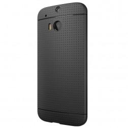 """""""Dots"""" kieto silikono (TPU) dėklas - juodas (One M8 / One M8s)"""