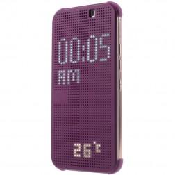 """Atverčiamas """"Dot View"""" dėklas - violetinis (One M9)"""