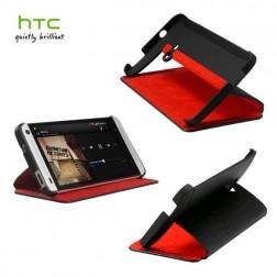 """""""HTC"""" Duoble Dip atverčiamas dėklas - juodas (One)"""