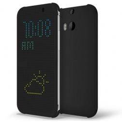 """""""HTC"""" Dot View originalus atverčiamas dėklas - pilkas (One M8 / One M8s)"""