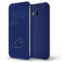 """""""HTC"""" Dot View originalus atverčiamas dėklas - mėlynas (One M8 / One M8s)"""