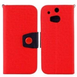 """""""Color"""" atverčiamas dėklas - raudonas (One M8 / One M8s)"""