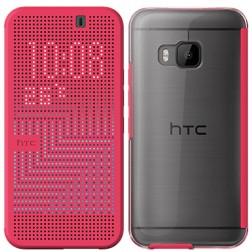 """""""HTC"""" Dot View Ice originalus atverčiamas dėklas - rožinis (One M9)"""