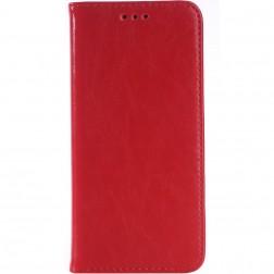 Solidus atverčiamas odinis dėklas - raudonas (One M9)