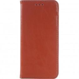 Solidus atverčiamas odinis dėklas - rudas (One M9)