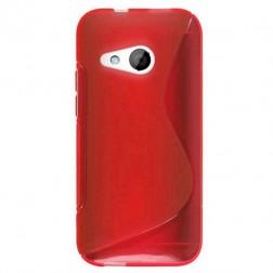 """""""S-Line"""" kieto silikono (TPU) dėklas - raudonas (One mini 2)"""