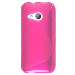 """""""S-Line"""" kieto silikono (TPU) dėklas - rožinis (One mini 2)"""