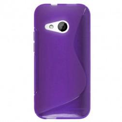 """""""S-Line"""" kieto silikono (TPU) dėklas - violetinis (One mini 2)"""