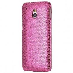 """""""Glitter"""" plastikinis dėklas - rožinis (One mini)"""