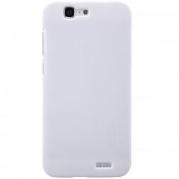 """""""Nillkin"""" Frosted Shield dėklas - baltas + apsauginė ekrano plėvelė (Ascend G7)"""
