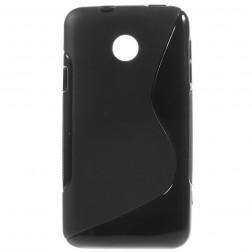 Kieto silikono (TPU) dėklas - juodas (Ascend Y330)