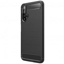 """""""Carbon"""" kieto silikono (TPU) dėklas - juodas (Nova 5T / Honor 20)"""