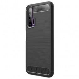 """""""Carbon"""" kieto silikono (TPU) dėklas - juodas (Honor 20 Pro)"""