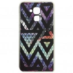 """""""Pattern"""" kieto silikono dėklas - violetinis (Honor 5c / Honor 7 Lite)"""