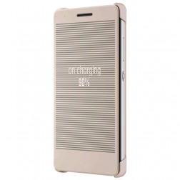 """""""Huawei"""" Smart Grid atverčiamas dėklas - smėlio spalvos (Honor 7)"""