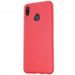 """""""Lenuo"""" kieto silikono (TPU) dėklas - raudonas (Honor 8X)"""