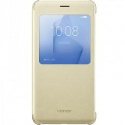 """""""Huawei"""" Smart Flip Cover atverčiamas dėklas - auksinis (Honor 8 / Honor 8 Premium)"""